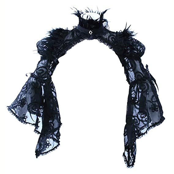 Steampunk Jacket | Steampunk Coat, Overcoat, Cape Steampunk Sexy Bolero Jacket Shrug Women Tops Scarves Pashmina Shawl Black Lace $56.66 AT vintagedancer.com