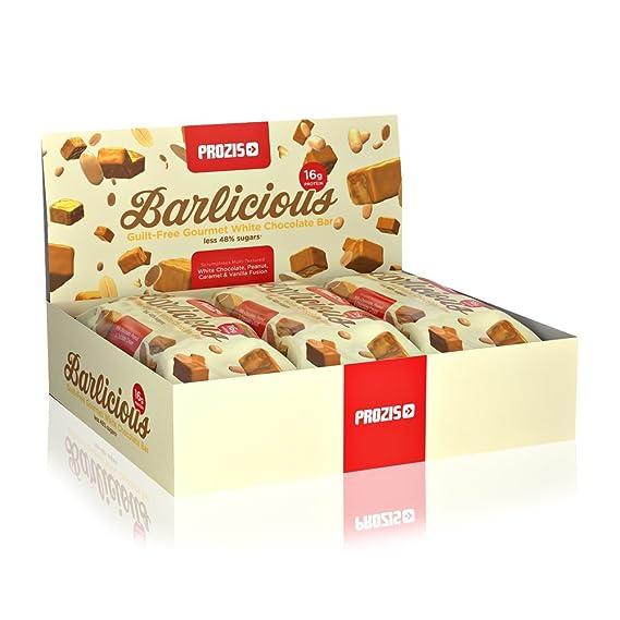 Prozis Barlicious Protein Bar 6 x 65 g - Aperitivo Libre de Culpa de Sabor Chocolate Blanco - Excelente Fuente de Proteínas y Fibra: Amazon.es: Salud y ...