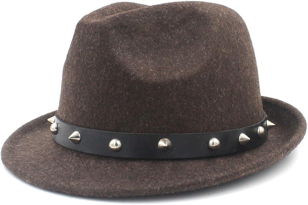 e3b4e492877 CP   YR 100% Wool Women Men Fedora Hat for Winter Autumn Elegant Lady Dad
