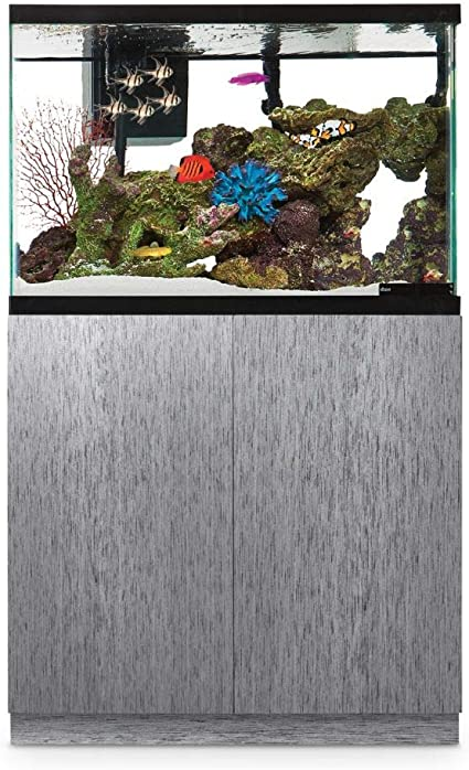 55 Gallon, Black Gloss Up to 29 PeetsPets Durable Wood Aquarium Stand with Storage 40 55 gal.