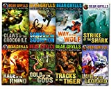 Bear Grylls Mission Survival Collection 8 Books Set (Claws of the Crocodile, Sands of the Scorpion, Gold of the Gods, Way of the Wolf, Strike of the Shark, Tracks of the Tiger, Lair of the Leopard, Ra