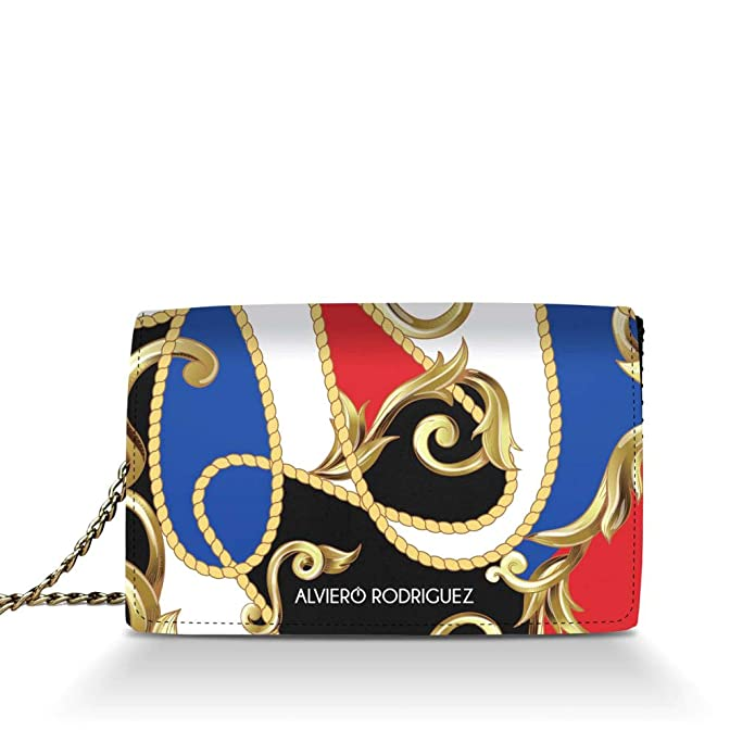 e35f86b649 Alviero Rodriguez Borsa Donna Royal Colors Rope Colori in Vera Pelle  (Catena Argento): Amazon.it: Scarpe e borse