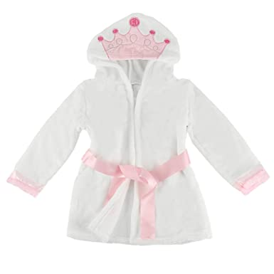 Puseky Baby Girls Princess Crown Lace Dressing Gown Bathrobe ...