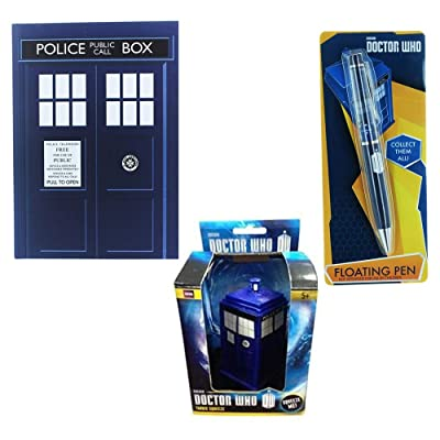 Doctor Who Tardis Themed Stationary Set With Notebook, Pen And Stress Toy: Office Products