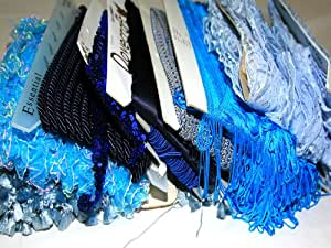 Assorted Craft Trimmings Bundle Worth £50.00 - Discounted Stock! Shades Of Blue