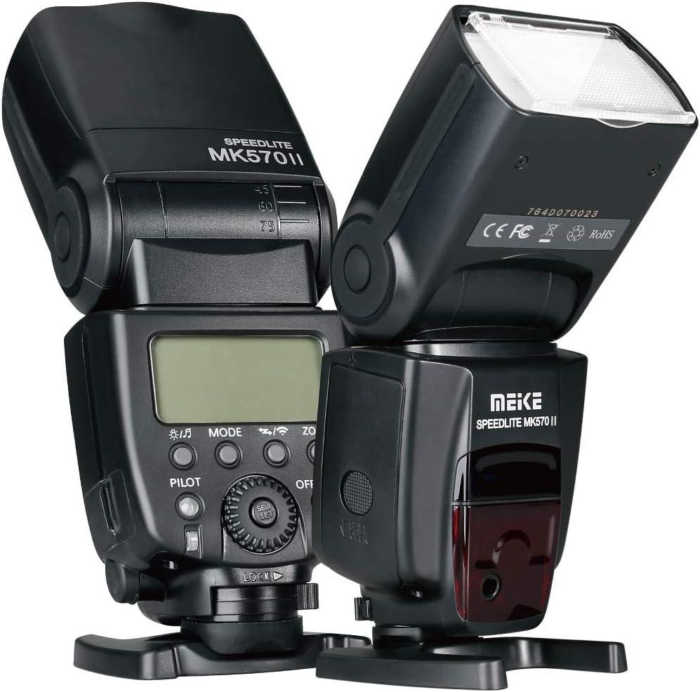 Meike MK570II 2.4G Wireless Manual Camera Flash Speedlite with LCD Display for Canon Nikon Pantax Panasonic Olympus Fujifilm DSLR Mirrorless Cameras