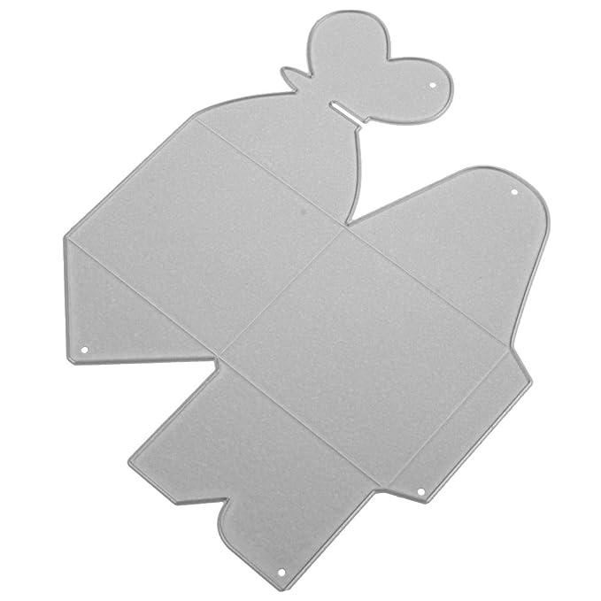 D DOLITY Troqueles de Corte Forma Caja de Dulce,Hecho de Acero a Carbono,para Decoración de Tarjeta de Papel,de Bebé: Amazon.es: Hogar