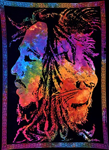 ANJANIYA Bob Marley Lion Face Beautiful Bohemian Room Dorm Decor Hippie Small Boho Rasta Tapestry Poster 30