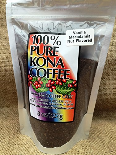 Kona Coffee Ground, Vanilla Mac-nut Flavored - (Mac Nut)