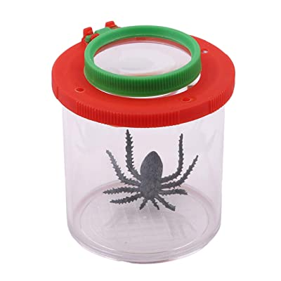 LALANG Nature Exploration Educational Toys Plastic Transparent Insect Catcher Container Flip Watcher Insect Observation Bottle: Toys & Games [5Bkhe1102149]