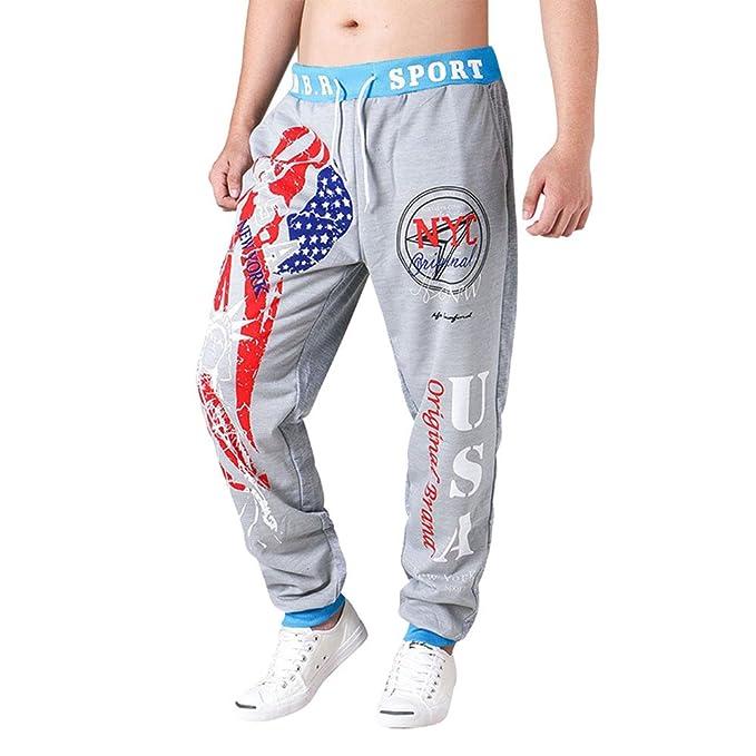 Pantalones Deportivos Moda Largos Chándal de Hombre Pantalón Deportivo Jogger de Algodón Estilo Urbano Pantalones Casuales para Hombre: Amazon.es: Ropa y ...