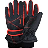 Igloos Mens Taslon Color Block Ski Gloves