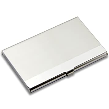 Amazon partstocktm business card holder stainless steel partstocktm business card holder stainless steel business card case for men colourmoves Images