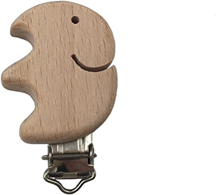 Bird 10Pcs Wooden Pacifier Clip Natural Beech Dummy DIY Pacifier Chain Accessories as described