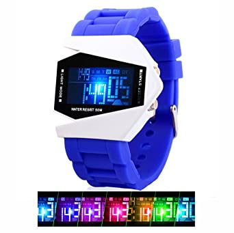 Boys Kids Digital Sport Watch Warcraft Fighter Multi Function for Kids Age Above 12 LED Electronic