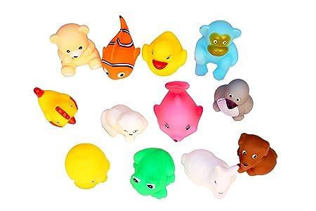 Cable World Soft Bath Toy Chu Chu Toys (Multicolour) - Set of 12