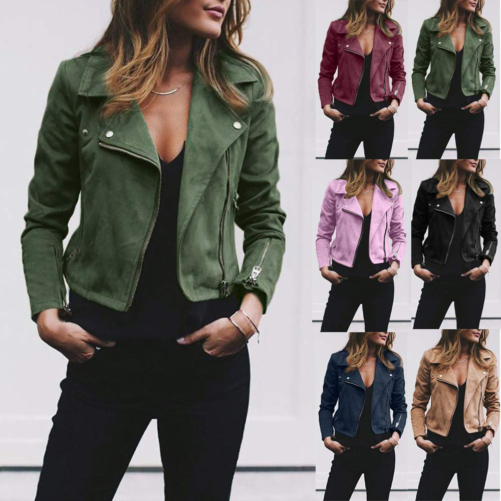 Amazon.com: Womens Bomber Jacket Streetwear,Vanvler Lady ...