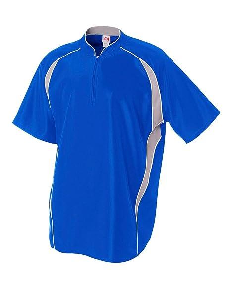 Baseball/Softball 1/4 Zip 2-Color Warm-Up Jacket Windbreaker (6 Colors, 10 Youth/Adult Sizes)