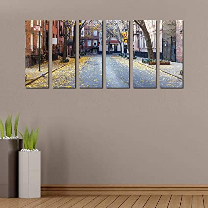 a6abee37ab4b 999Store Multiple Wooden Framed Printed City Scape Art Panels Wall Painting-  6 Frames  Amazon.in  Home   Kitchen