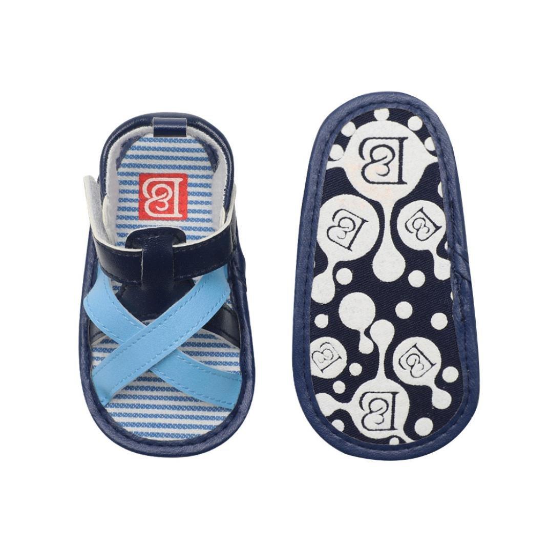 Voberry@ Baby Toddler Boy Girls Cotton Soft Sole Outdoor Non-Slip Sandals First Walker Shoes