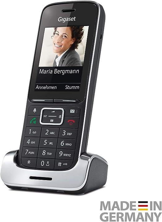 Gigaset SL450HX - Teléfono (Teléfono DECT, Terminal inalámbrico, 500 entradas, Servicios de Mensajes Cortos (SMS), Negro, Plata): Amazon.es: Electrónica