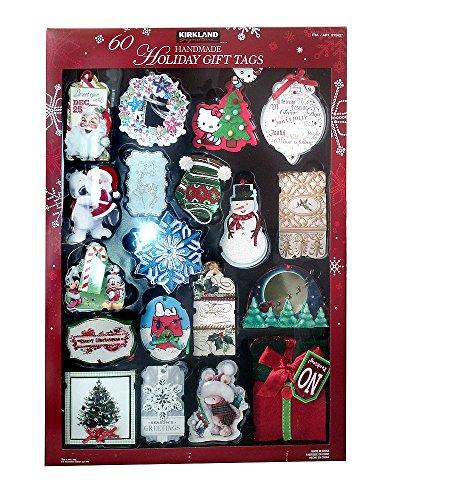 Christmas Handmade Gift - Kirkland Signature 60 Handmade 3D Holiday Gift Tags