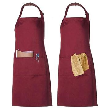 Latzschürze Schürze Kochschürze Küchenschürze Baumwolle