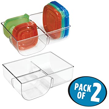 MetroDecor MDesign Food Storage Lid Organizer For Kitchen Cabinet, Pantry    Pack Of 2,
