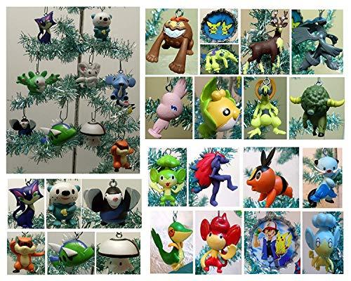 (Christmas Ornament Random 10 Piece Mini Holiday Set with 10 Randomly Selected Pokemon Character Ornaments Around 2