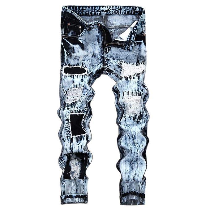 Cebbay Liquidación Pantalones Vaqueros de los Hombres Pantalones Deportivos Pantalones de Trabajo Jeans de Ciclismo para