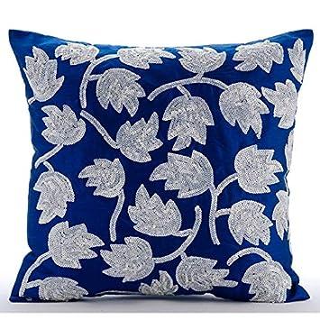 Amazon.com: Azul real fundas de almohada de lujo ...