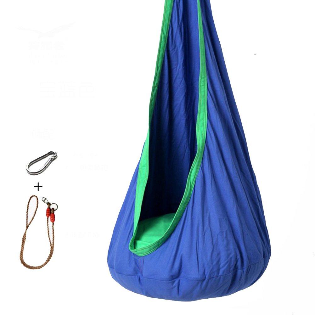 L&J カラフル 子 ハンモック,屋内 通気性 バルコニー 吊り椅子 屋外 パティオ レジャー スイング ベッド キャンプ ピクニック B07CVRJLJX C C