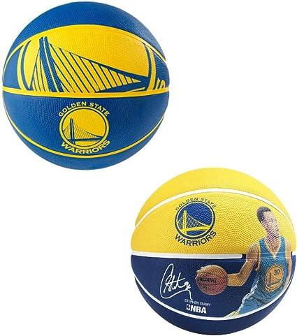 bébé style top texture nette Spalding NBA Golden State Steph Curry Lot de 2 Ballons de ...