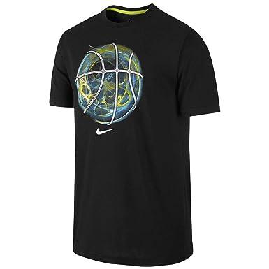 Nike Men\u0027s Nike Basketball Dri-fit T-shirt (Large, Black)
