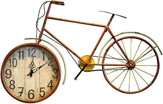 Decoración De La Pared Del Estilo Industrial De Bicicletas Reloj ...