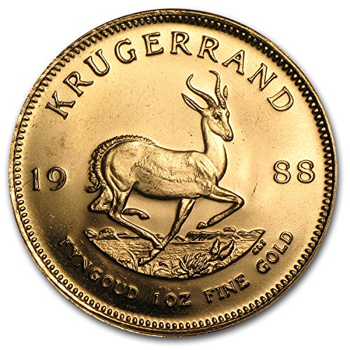 Krugerrand Gold Coins - 1988 ZA South Africa 1 oz Gold Krugerrand 1 OZ About Uncirculated