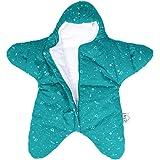 kuuboo algodón bebé saco de dormir de Estrellas Super suave Recién Nacido saco de dormir Saco de dormir de forro polar manta Wrap dormir sacos Otoño Invierno Cálido carritos cama manta Swaddle Wrap–apto para aproximadamente 0–8M bebé verde verde