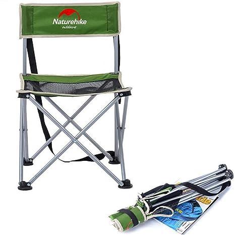 SUNCHI - Silla de Senderismo, Plegable, portátil, 150 kg, para Camping, al Aire Libre, sillas Ligeras, Asiento de jardín para Pesca, Barbacoa, Picnic