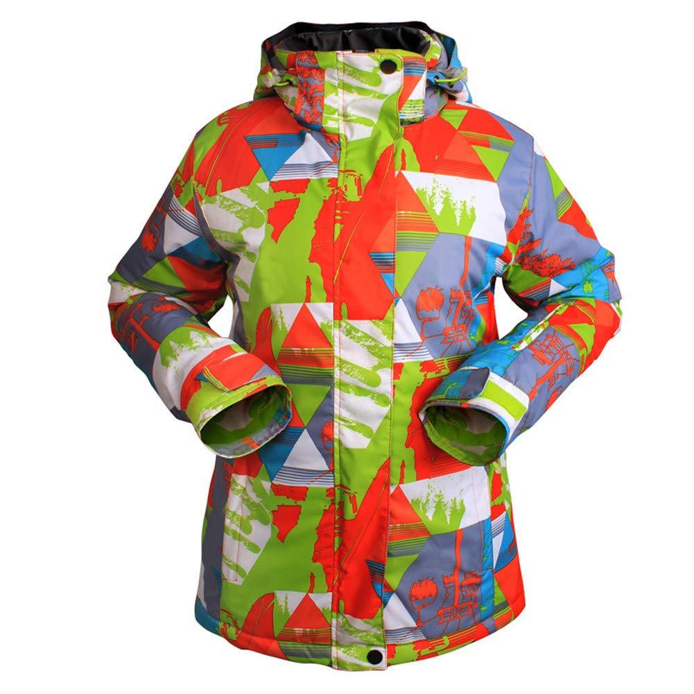 女性用スキージャケット防風暖かい換気スキー/スノーボード/マルチスポーツ/スノースポーツポリエステル衣類スーツスキーウェア A Large