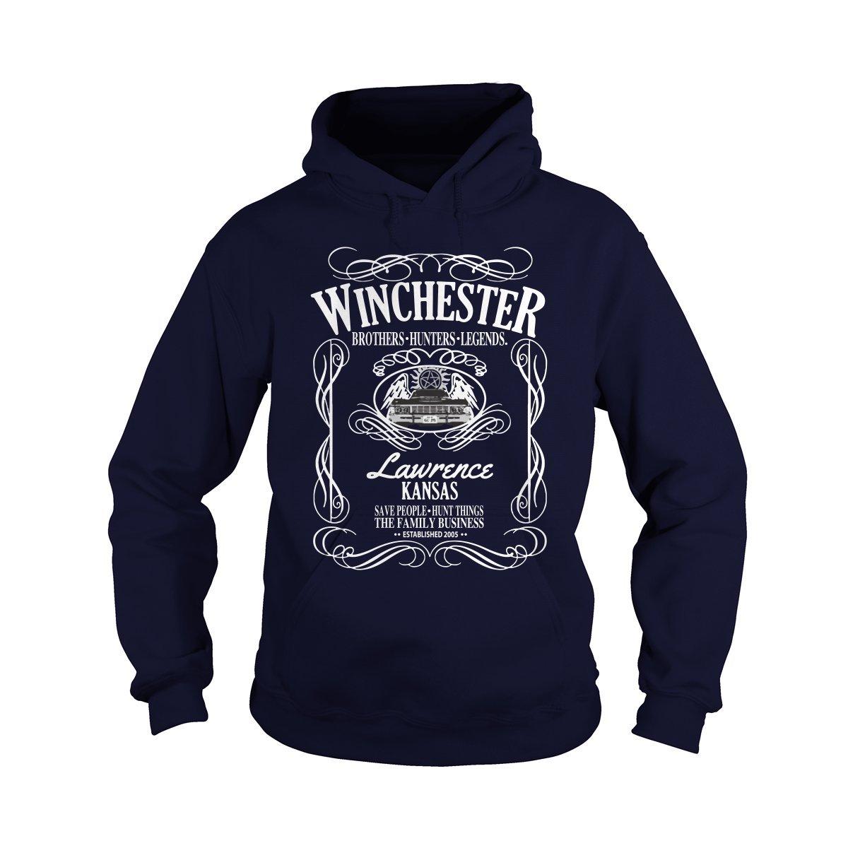 Hoodie Navy blueee XXXLarge ShinyKT Winchester Bredhers, Hunter and Legends TShirt