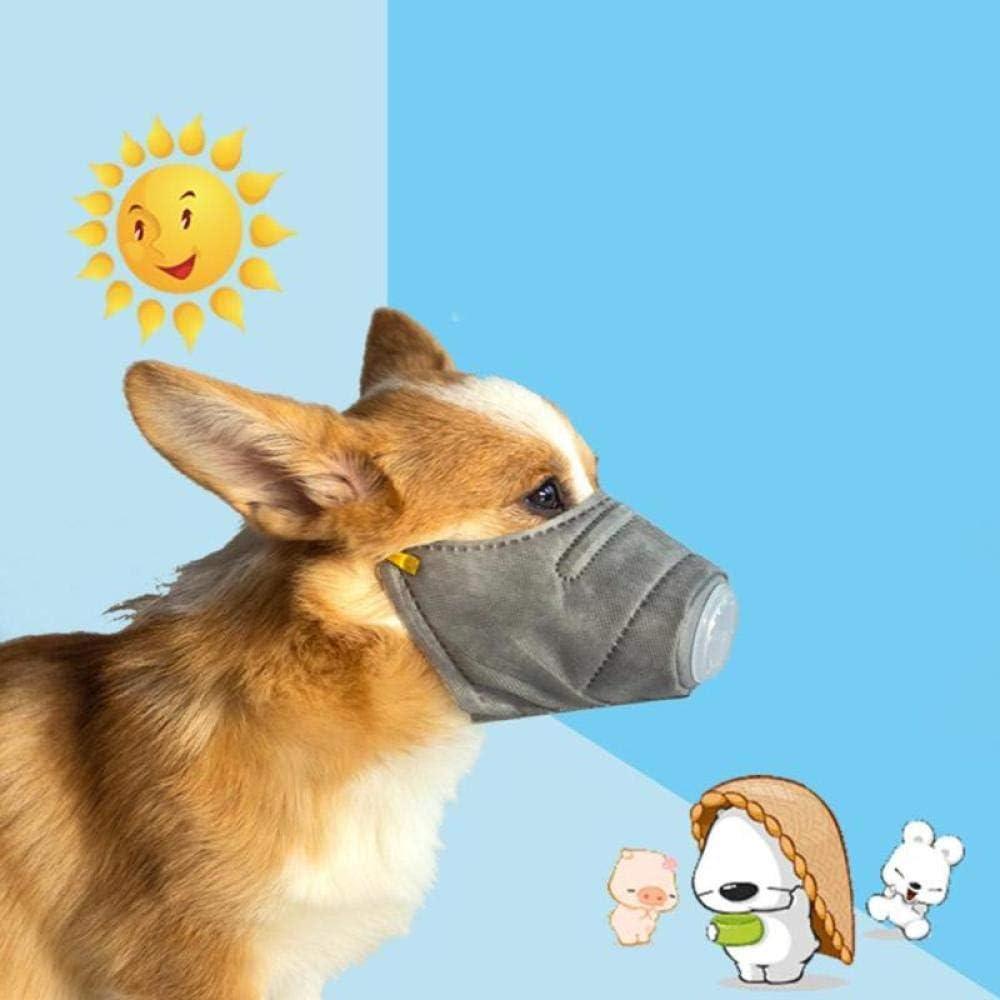 YCDEAR 3 Piezas Mascarilla antivaho para Perro, bozal para Perros Ajustable y Transpirable, Protector bucal, respirador para Mascotas, bozal Antipolvo, Traje S