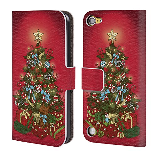 Head Case Designs Albero Festivo Christmas Essentials Cover a portafoglio in pelle per iPod Touch 5th Gen / 6th Gen