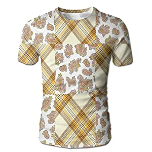 Edgar John Image of Patch and Deceit Lines and Paisley Motifs Nostalgic Stripes Men's Short Sleeve Tshirt M