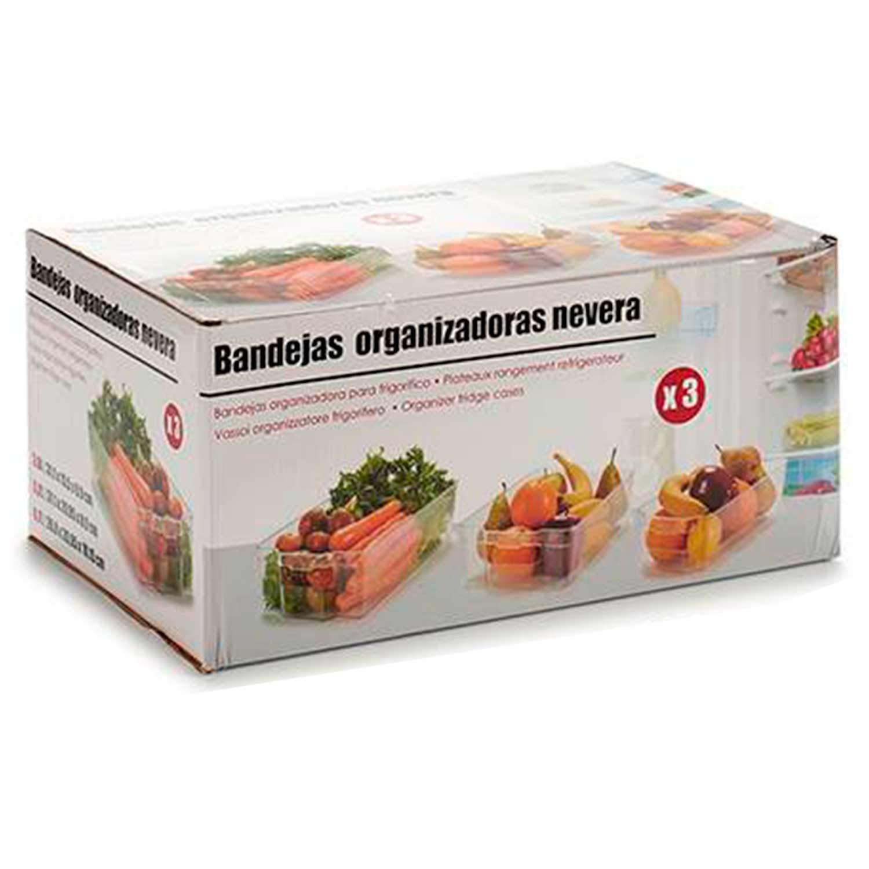 MGI Set DE 3 BANDEJAS ORGANIZADORAS DE Nevera