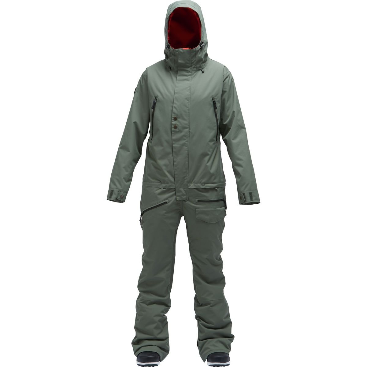 Air Blaster Freedom Insulated Womens One Piece Ski Suit - Medium/Olive by AIRBLASTER (Image #1)