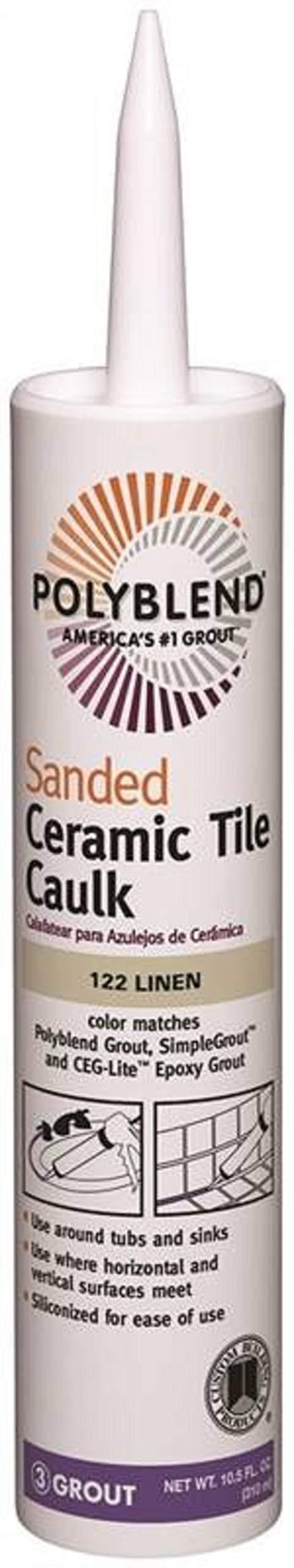Custom BLDG Products PC12210S-6 10.5-Ounce Linen Tile Caulk, 10.5 oz, Sahara Tan