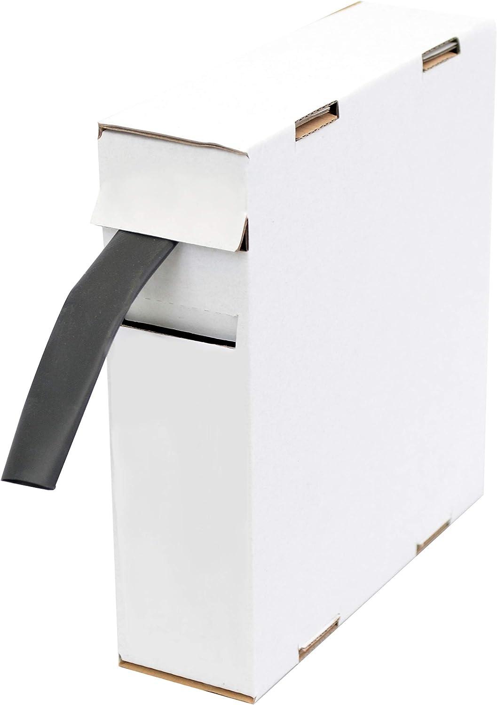 Schrumpfschlauch Isolierschlauch 2 1 D 19 0mm D 9 5mm Länge 5 M Schwarz In Praktischer Spender Box Baumarkt