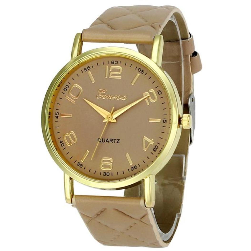 Amazon.com: Womans Watch,Geneva Quartz Analog Bracelet Faux Leather Wristwatch Chimes Clock Axchongery (Black): Clothing