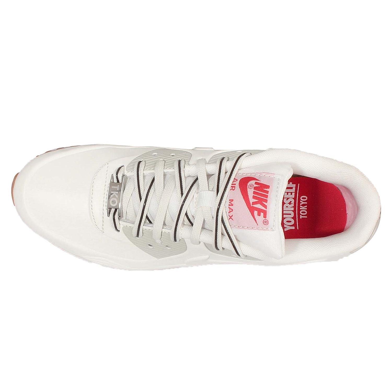 Nike Women's Wmns Air MAx 90 VT QS, TOKYO-WHITE/WHITE-LIGHT BEIGE  CHALK-VELVET BROWN, 5.5 UK: Amazon.co.uk: Shoes & Bags