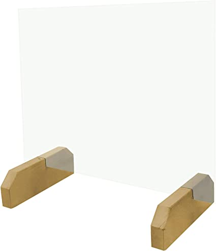 Pantalla Protectora de Cristal templado, Mampara de protección, Separador para Mostradores en tiendas, farmacias, comercios etc. / con Soportes Bajos o Altos: Amazon.es: Oficina y papelería